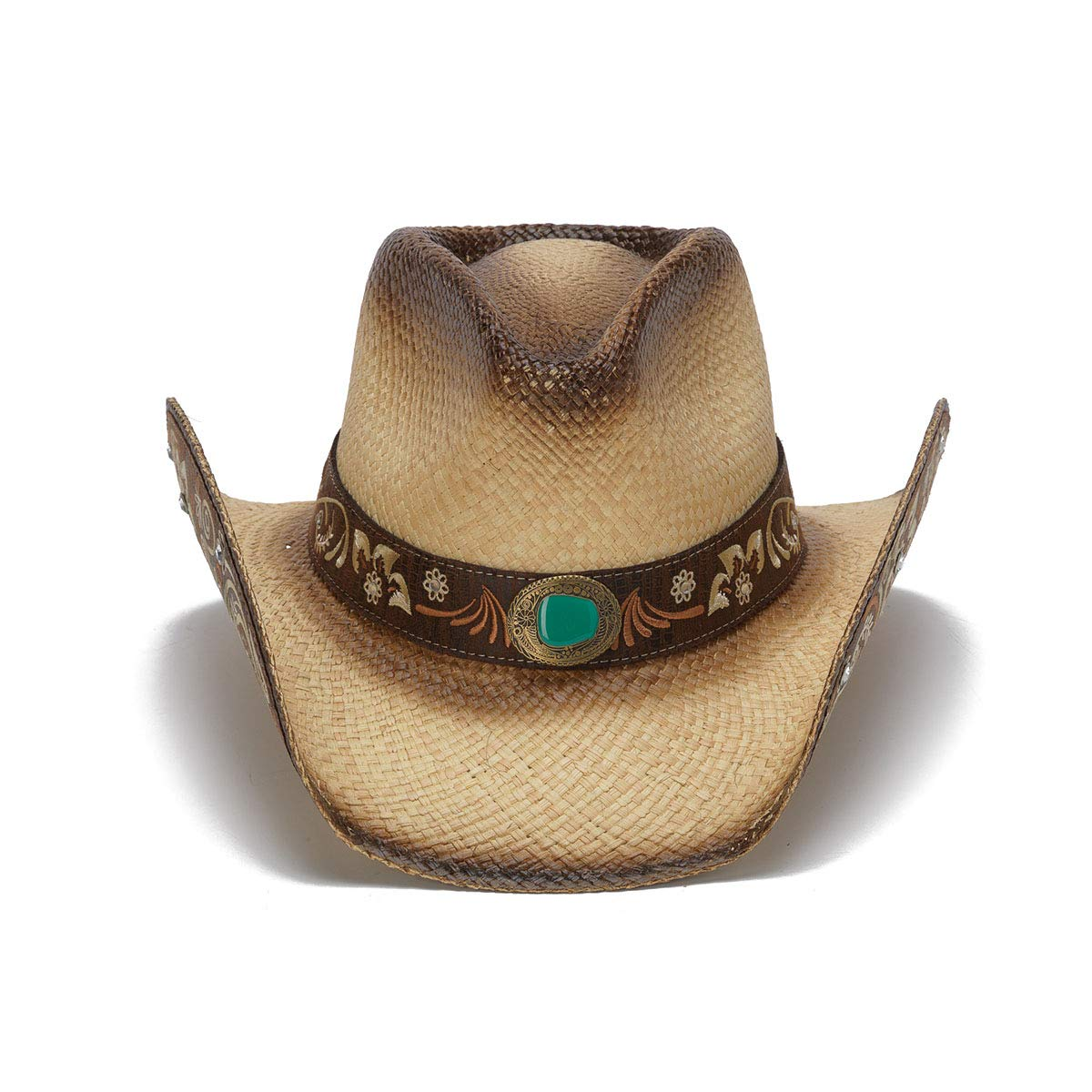 Stampede Hats Women's Sky Action Floral Embroidered Western Hat S Tea Stain by Stampede Hats (Image #2)