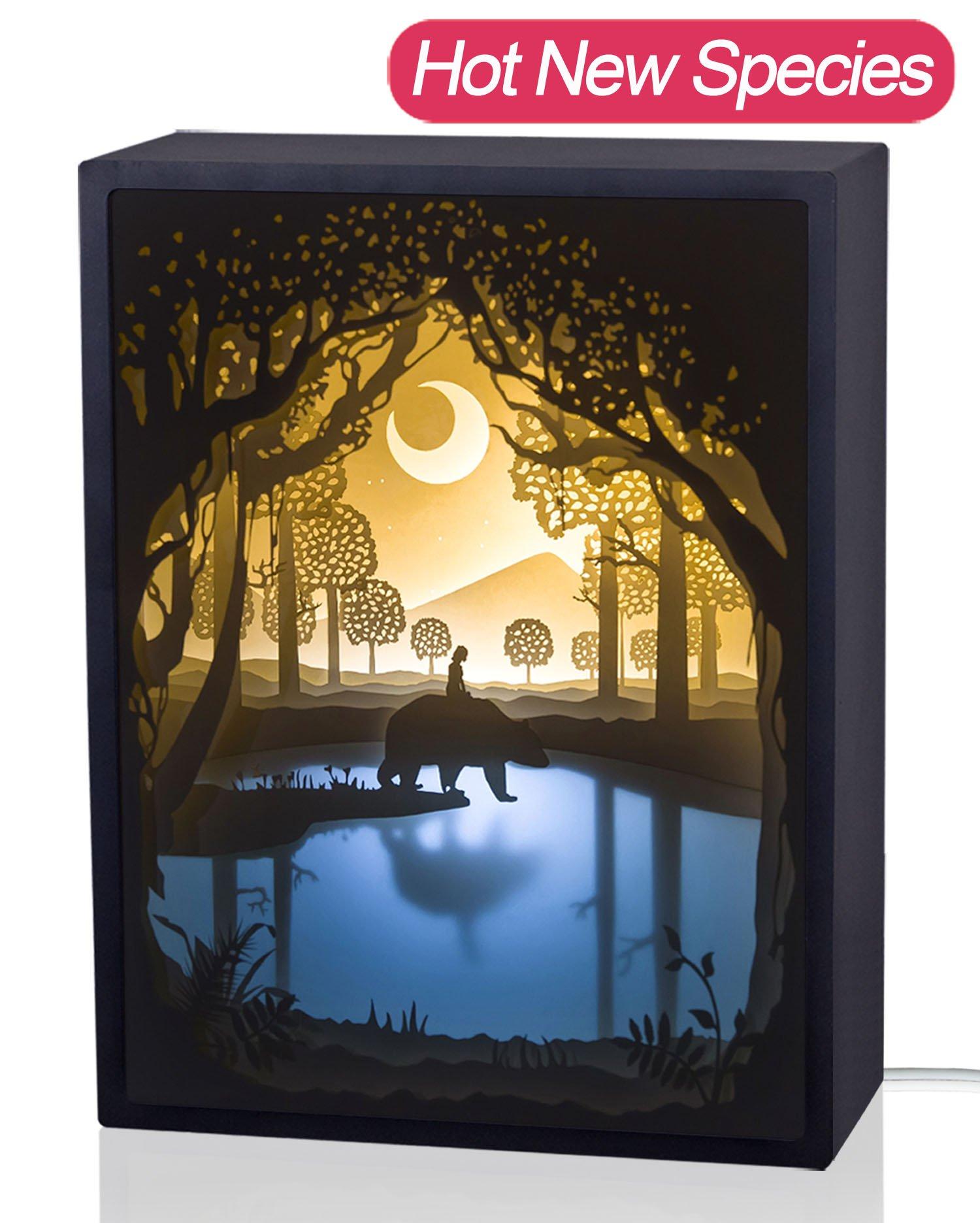 Papercut light boxes night light lamp of - Lightbox amazon ...