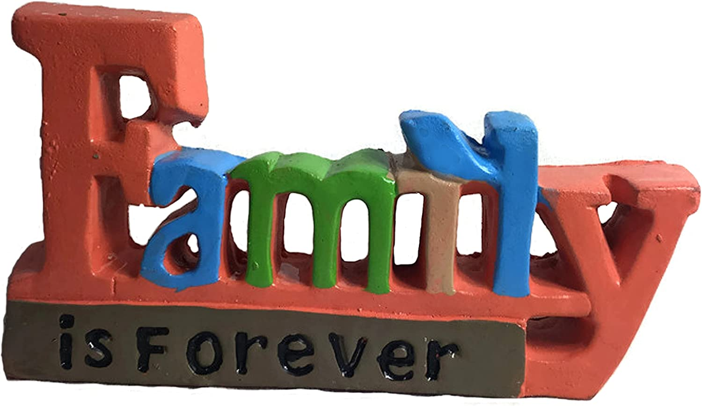 Fetco Home Decor Ceramic Sentimental Mantle/Bookshelf Decoration (Family is Forever)