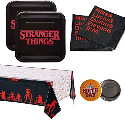 Amazon.com: RDC Stranger Things Party Supplies - Platos ...
