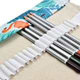 LIFEMATE Pencil Wrap 72 Holes Canvas Pencil Roll