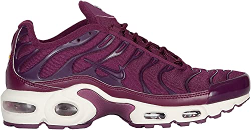Nike Air Max Plus – Zapatillas de running para mujer, color  burdeos/burdeos/bronce blanco de nailon