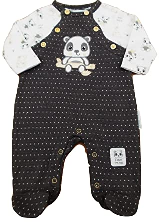 ac6e12d3f with Tags Baby Boys All in one Panda Romper Suit Clothes Newborn 0 ...