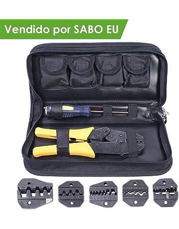 Amzdeal Crimpadora con 5 Pinzas Intercambiables 1*destornillador y 1*caja de Almacenamiento para