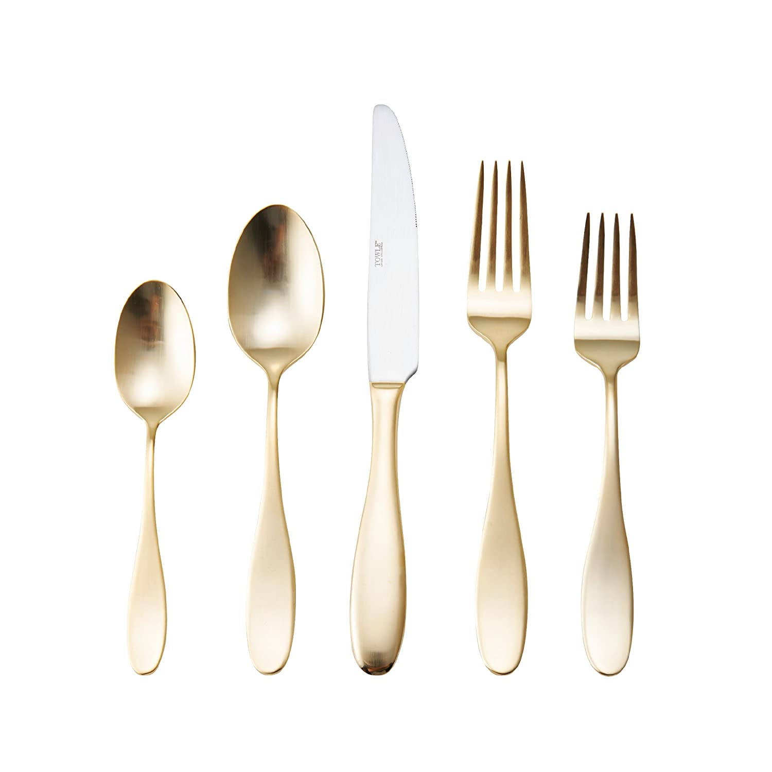 Towle Living 5147980 Addica 20-Piece Forged Stainless Steel Flatware Set Service for 4