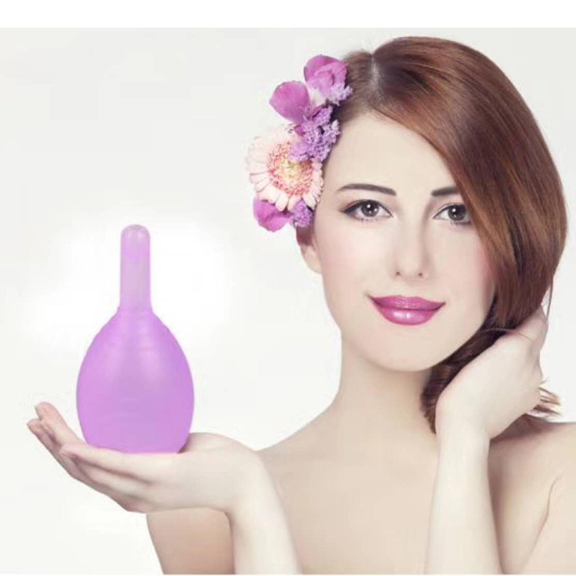 ViiNA YA Copa menstrual de Silicona Grado Médico, con descarga de la válvula,Modelo Soft, Embalaje aséptico (L)