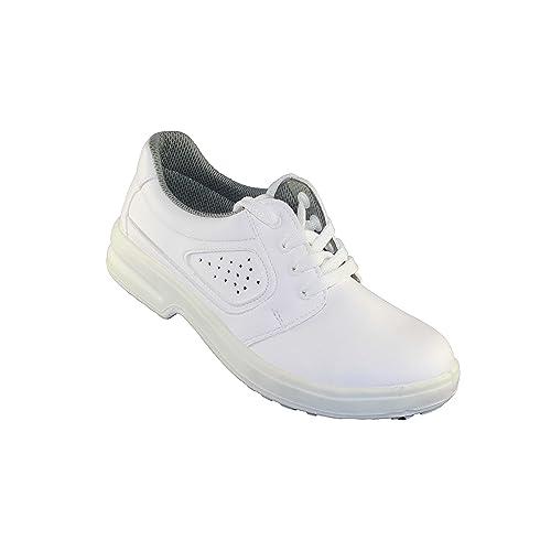 Jal Group - Calzado de protección de Piel para hombre, color blanco, talla 46