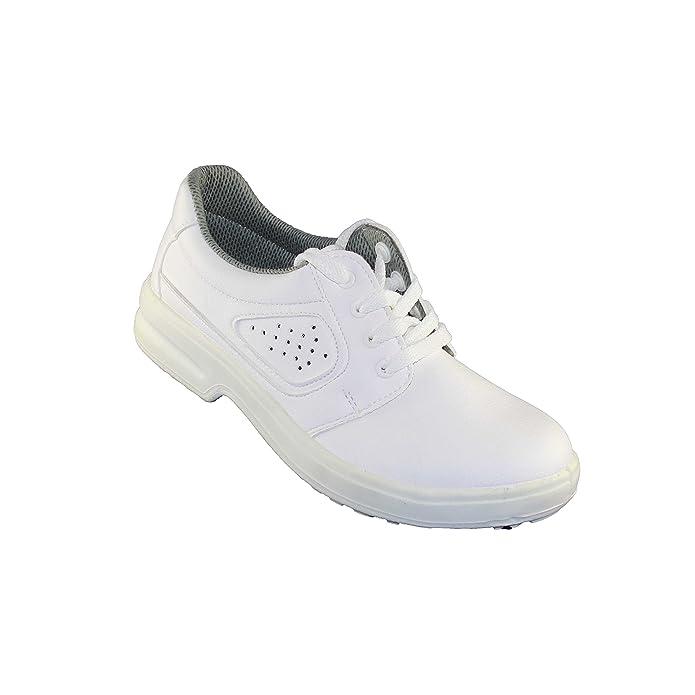 Jal Group Calzado de Protección de Piel Para Hombre, Color Blanco, Talla 46