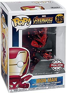 Funko Pop Movies: Avengers Infinity War - Red Chrome Iron Man Collectible Figure, Multicolor
