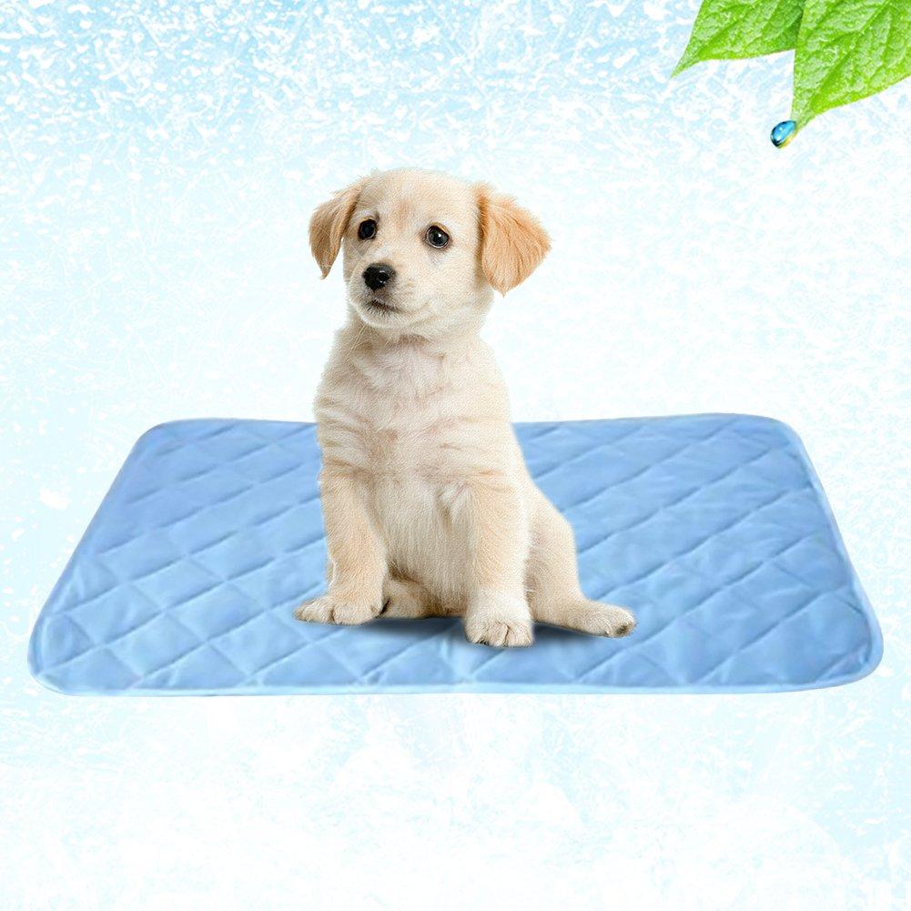 PROKTH Alfombrilla de refrigeración para mascotas alfombrillas de refrigeración de color sólido de fibra viscosa para perro y gato.