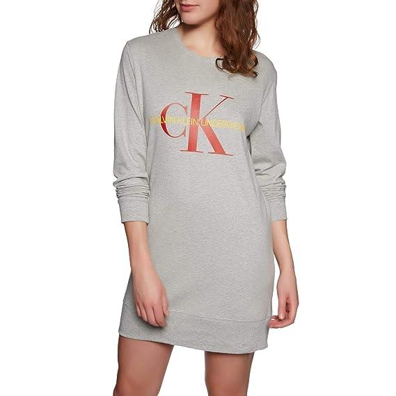 Calvin Klein Logo Nightshirt - Monogram - Grey Heather  Amazon.co.uk ... 6983678d4