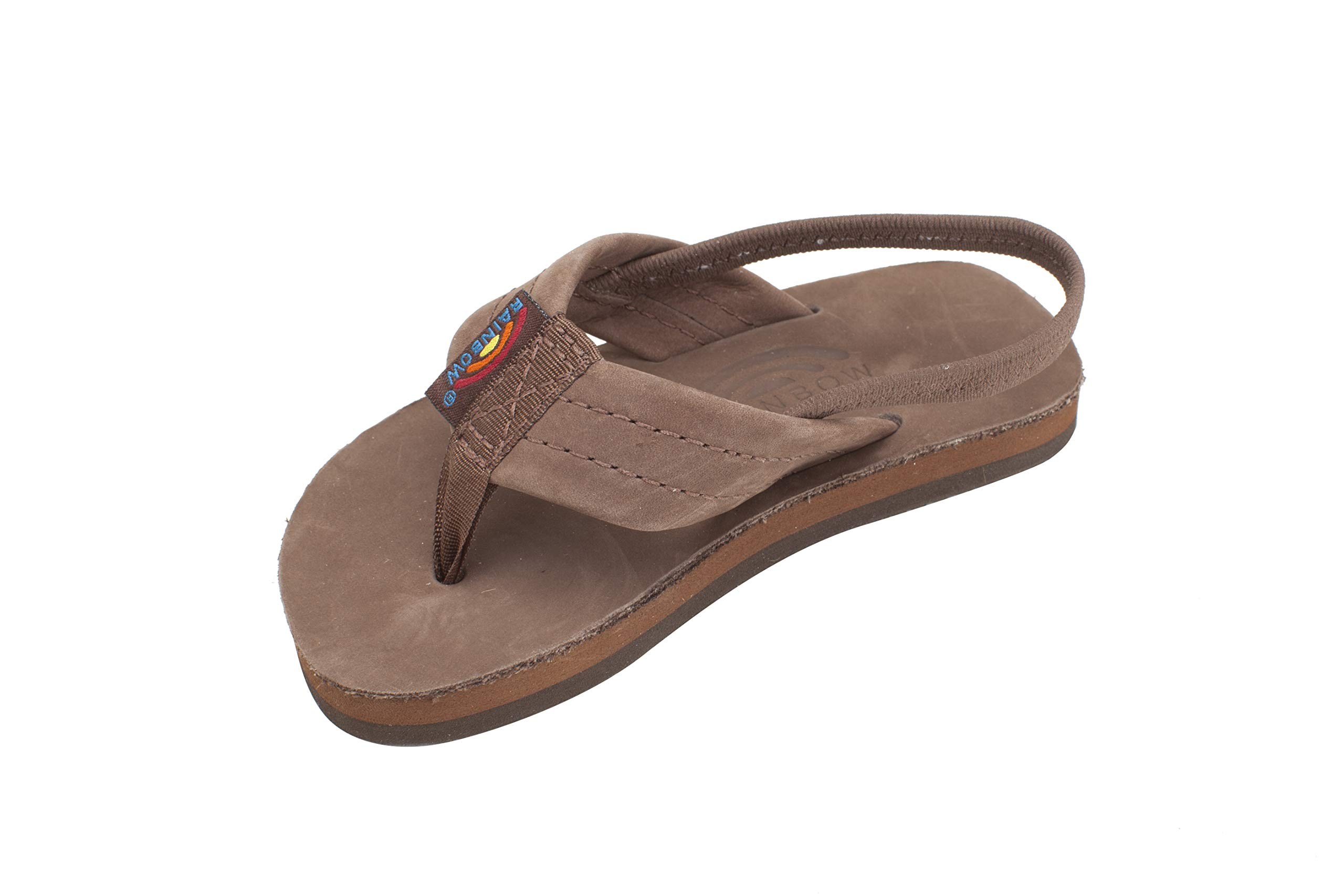 Rainbow Sandals Kid's Single Layer Premier Leather Expresso, Toddler 7-8 B(M) US
