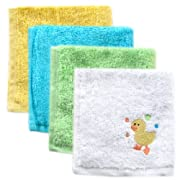 Luvable Friends 4 Pack Super-Soft Washcloths, Yellow Duck