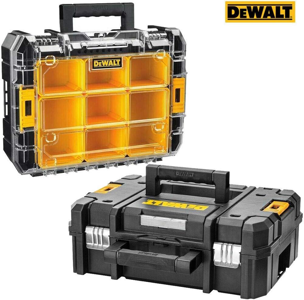 Dewalt DWST1-71194 Tstak - Caja organizadora apilable para 7 tazas + estuche DWST1-70703 TSTAK: Amazon.es: Bricolaje y herramientas