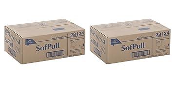 Georgia-Pacific SofPull 28124 White RsYrlz Premium 1-Ply Regular Capacity Centerpull Paper Towel