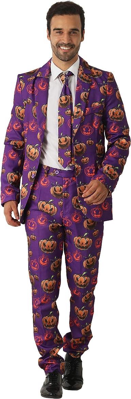 EraSpooky Calabaza de Halloween Trajes para Hombres Viene con ...