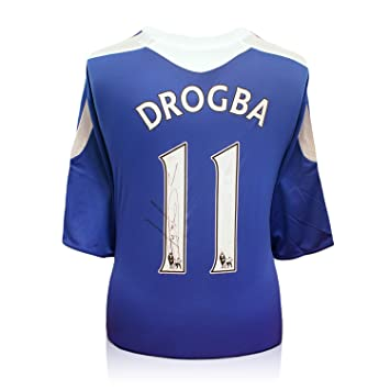 exclusivememorabilia.com Didier Drogba del Chelsea Firmado 2011-12 camiseta Premiership: Amazon.es: Deportes y aire libre