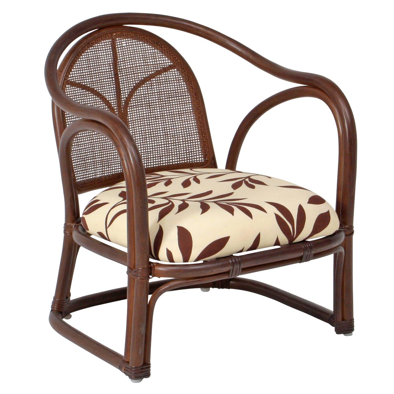 不二貿易 ラタン 軽量 らくらく チェアー ライト ブラウン 完成品 玄関ベンチ 立ち上がり椅子 89301 B007HERSWU