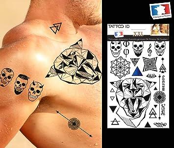 Tatuaje eferemere temporal Hombre Jaguar Tribal Maorí ...