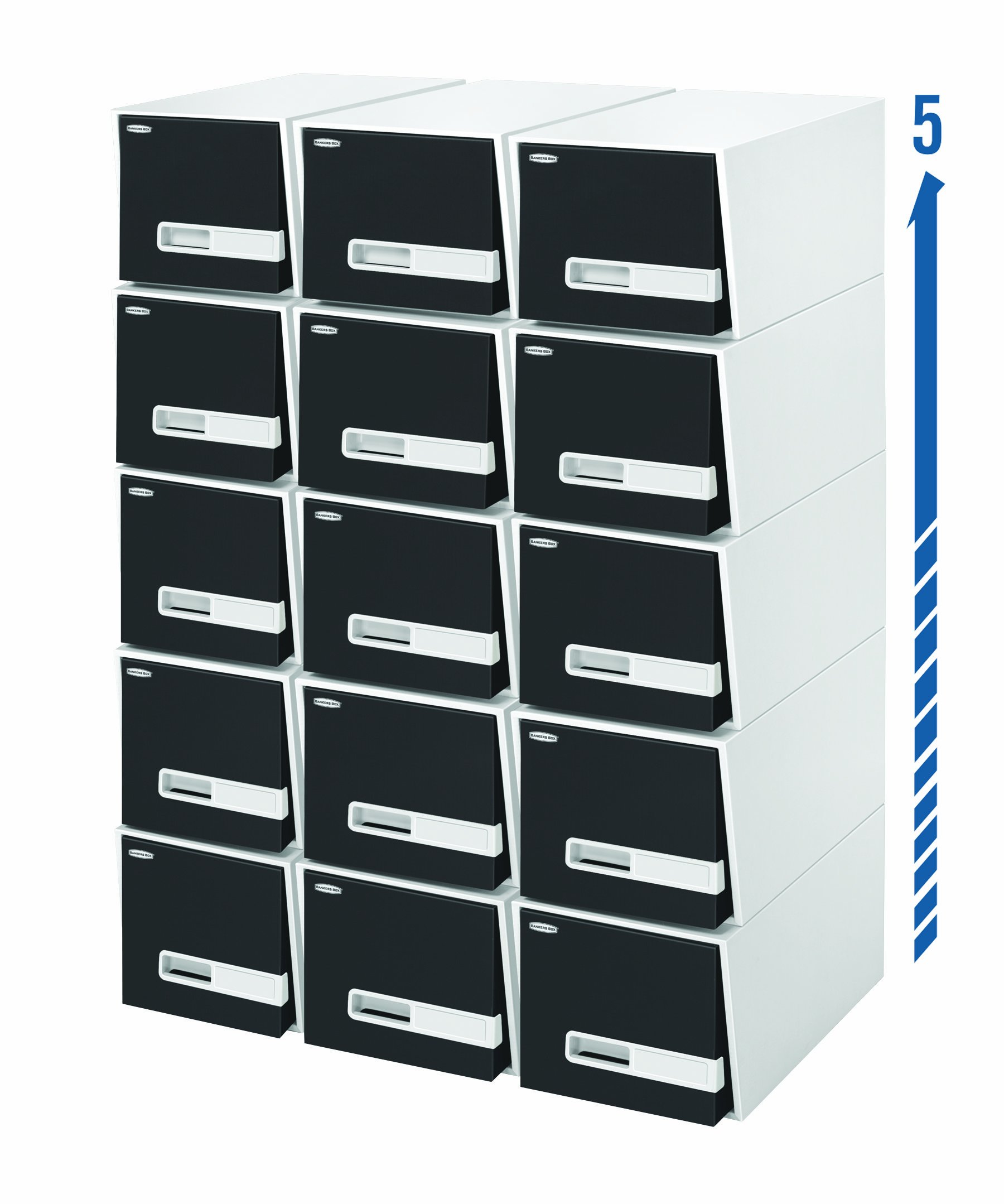 Bankers Box Stor/Drawer Premier Drawers, 24-Inch Legal, Black, 5 Pack (3792101) by Bankers Box (Image #2)