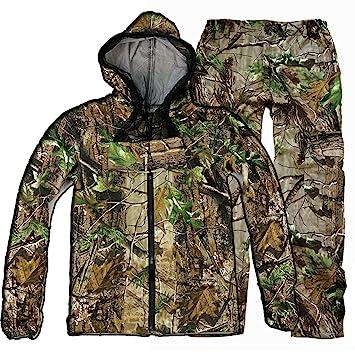 ALLIWEI Vestimenta de Primavera y otoño Ropa Delgada de Camuflaje Traje de Caza Selva Oculta Caza