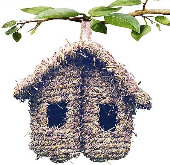 Bars,E:Water Drop #2 Garden Natural Bird Nest Hanging Birds Feeder for Home