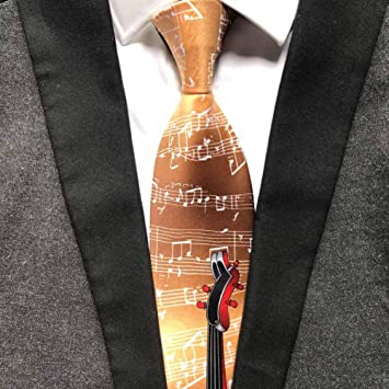 YUFSHU Borgoña Color Del Vino Notación Musical Corbata Ceremonia ...