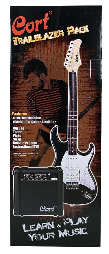 Cort G110 guitarra eléctrica Paquete Negro Satín
