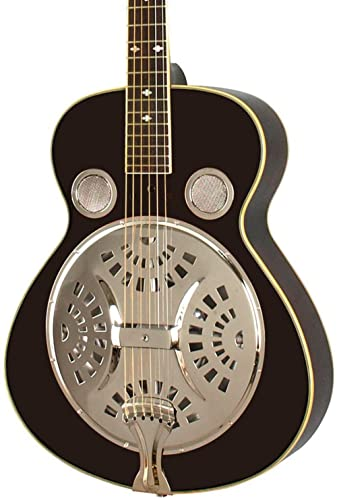 Rogue Classic Spider Resonator Black Round neck