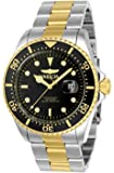 Invicta Men's Pro Diver Quartz Diving Watch with Stainless-Steel Strap, Two Tone, 22 (Model: 23229