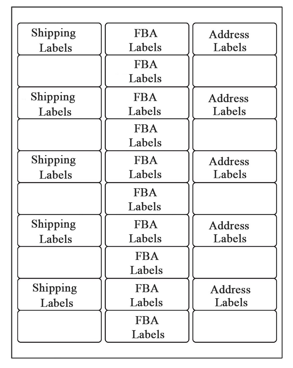SJPACK 30-up Labels Address Labels 1'' x 2-5/8'' White Mailing Labels for Laser Inkjet Printers, 500 Sheets
