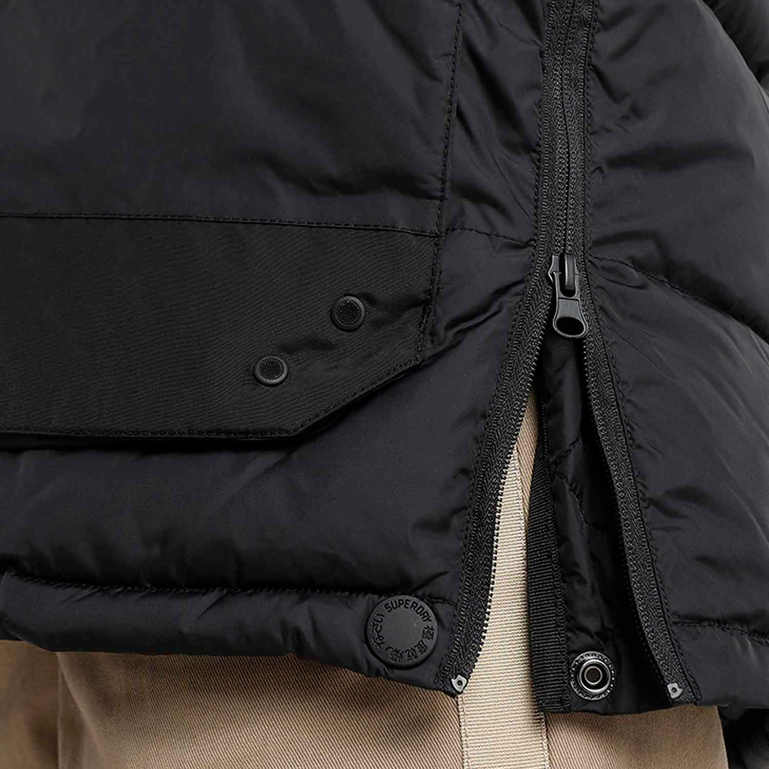 Superdry Chinook Parka Homme Black