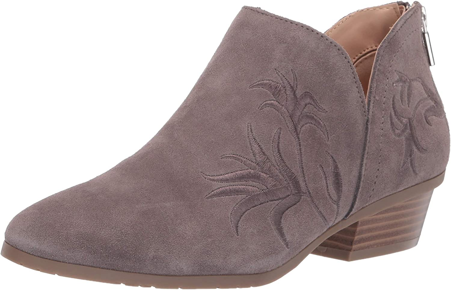 Kenneth Cole REACTION Womens Side Gig Tonal Embroidered Ankle Bootie Boot