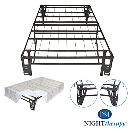 amazoncom night therapy platform metal bed metal brackets for headboard u0026 footboard bed skirt full no box spring - Metal Picture Frames