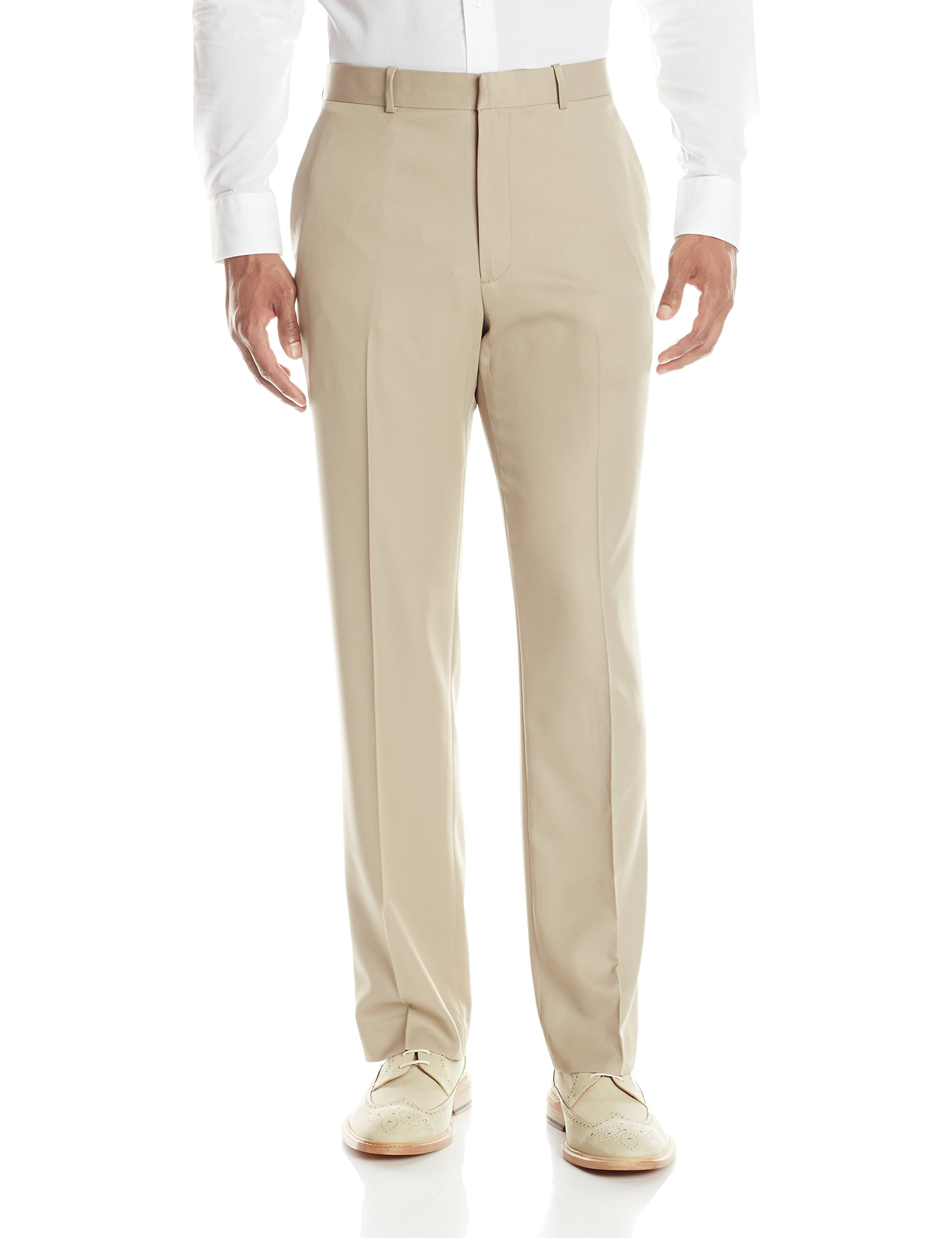 Perry Ellis Men's Portfolio Solid Modern Fit Performance Pant, Toast, 38x30