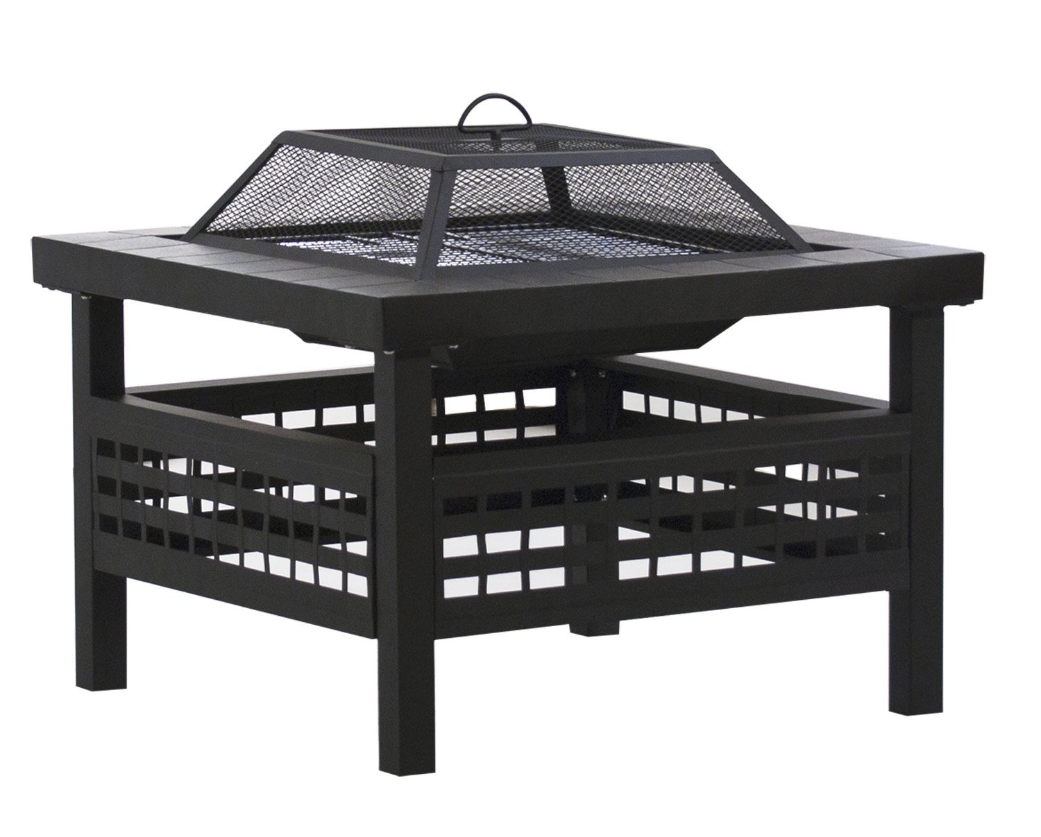 DeckMate 30605 Sonoma Outdoor Steel Fire Pit - Steel construction with high temperature resistant finish For burning wood and artificial logs Log grate and fire tool included - patio, fire-pits-outdoor-fireplaces, outdoor-decor - 71t0WGM3lEL -