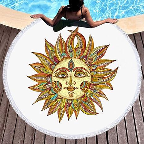 Amazon.com: koongso redondo grande Solar deidad impreso ...