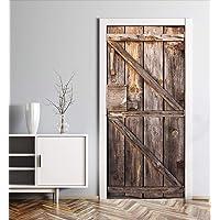 MyMaxxi | Deur beplakken met deurbehang zelfklevend 90x200 houten deur oud | deur verfraaien met deurfolie | deursticker…