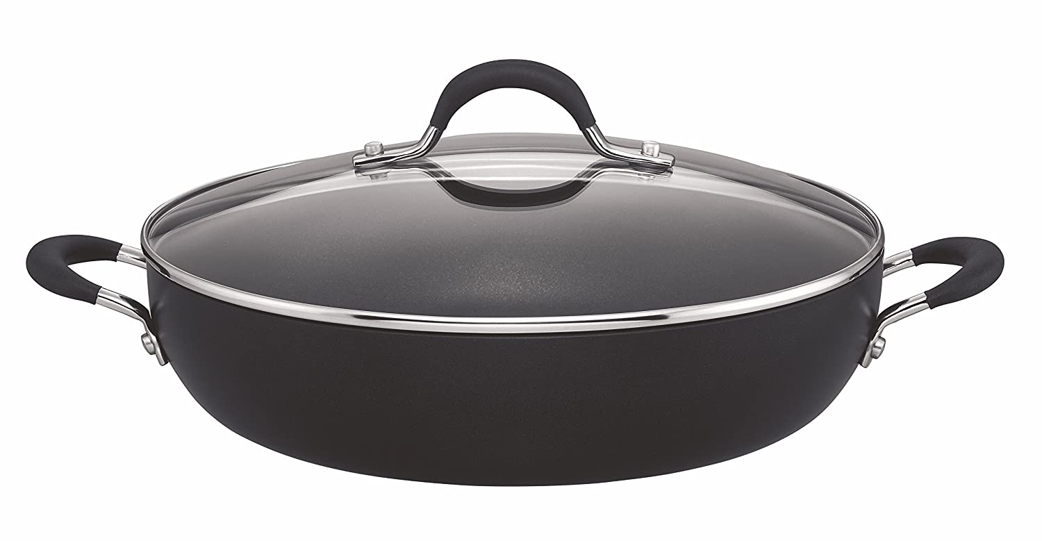 Circulon Momentum Hard Anodised 30cm Shallow Casserole 4.3L - Black Meyer Group Ltd 84202