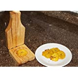Green Plantain's Wood Press. Wood Plantain Press Smasher. Tostonera Small Size.