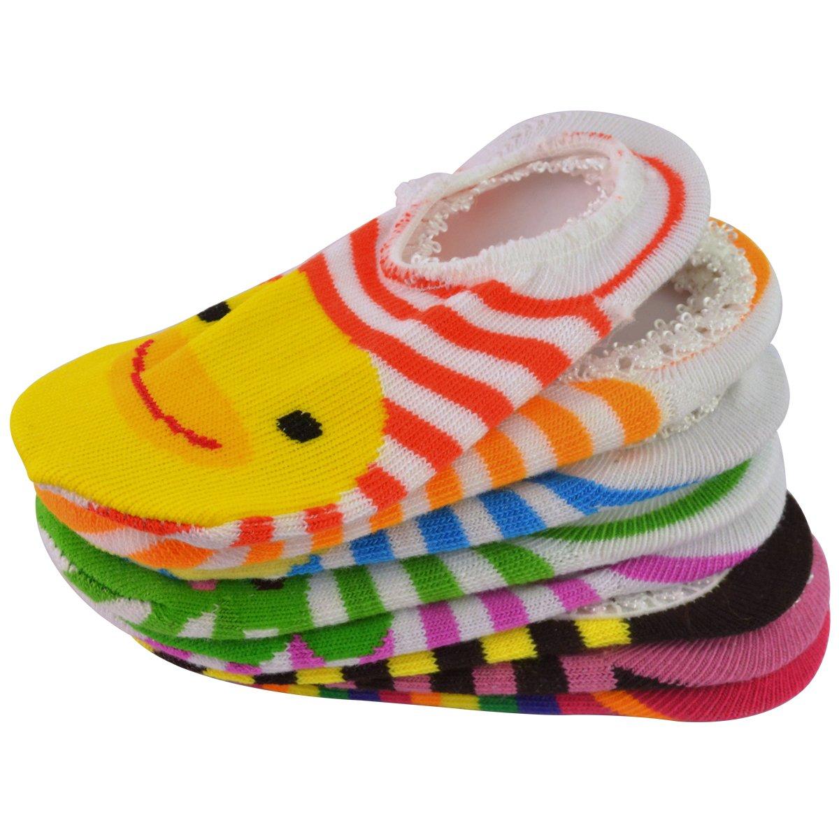 6 Pairs Anti-slip Baby Socks Gift Bangle With bags No Show Newborn Socks SUMERSHA Girls 6-12 Month Cartoon Baby Toddler Anti Slip Skid Low Cut Boat Socks