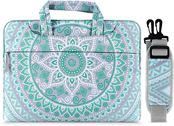 MOSISO Laptop Shoulder Bag Compatible with 17-17.3 inch MacBook Dell Lenovo HP Asus Acer Samsung Sony Chromebook Computer, Carrying Briefcase Handbag Sleeve Case Mandala MO-MDL001