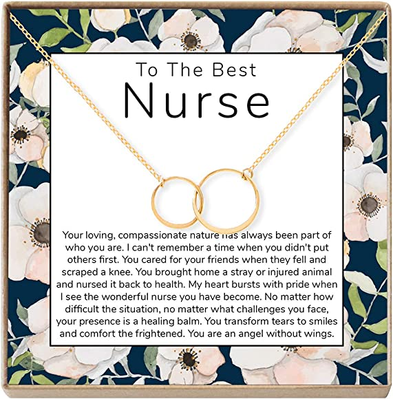 Heartfelt Card /& Jewelry Gift for her Birthday Holidays /& More Nurse Necklace