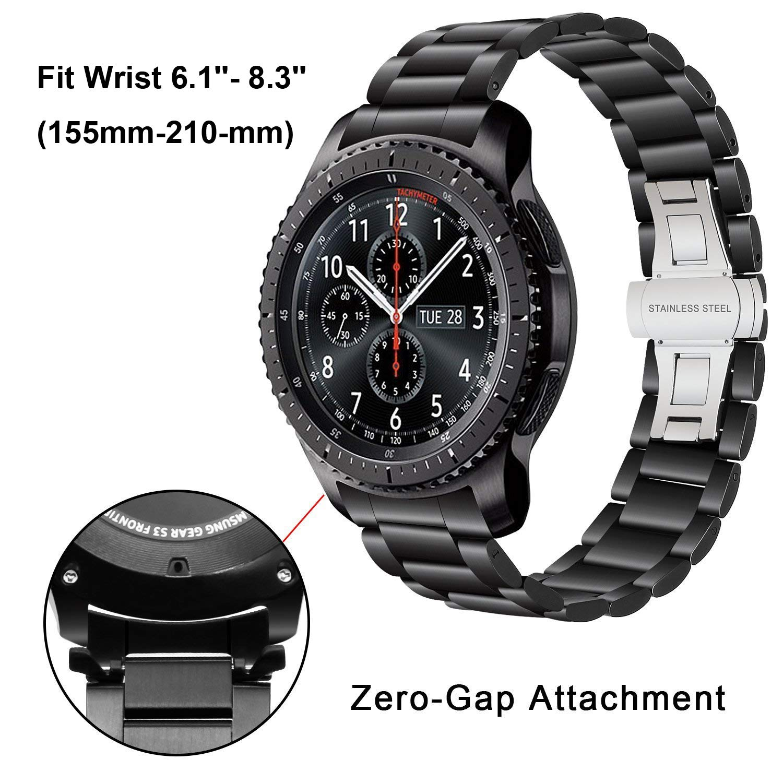 Gear S3 Classic/Frontier Bands, iWonow 22mm Stainless Steel Strap Zero Gap Bracelet Wristband Replacement for Samsung Gear S3 Classic/Frontier, Moto ...