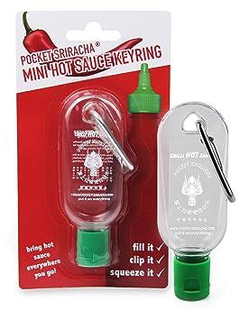 Pocket Sriracha Mini Sriracha Hot Sauce Bottle Keyring 1 Pack Bring Hot Sauce With You Everywhere   Great Chilli Sauce Gift (Shipped Empty) by Pocket Sriracha