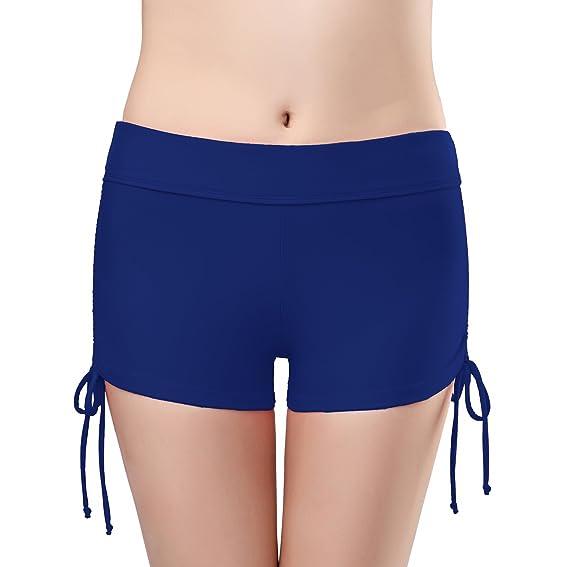 26950c868ec7de SHEKINI Femme Shorts de Bain Bas de Maillot de Bain Bikini Slip Robe ...