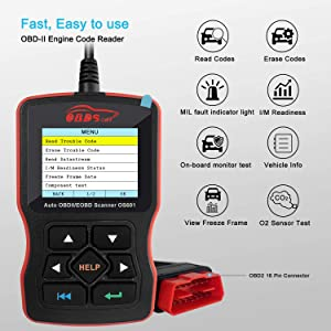 The OBDScar OS601 includes some excellent features such as smog check