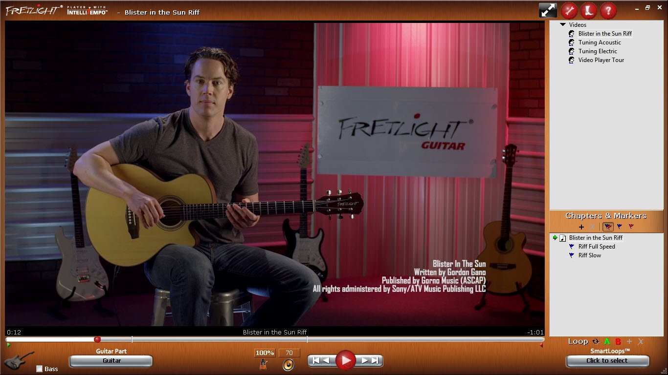 fretlight 5 ® Guitarra Eléctrica con integrado con luz LED Sistema ...
