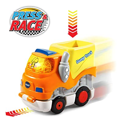 VTech Go! Go! Smart Wheels Press and Race Dump Truck: Toys & Games