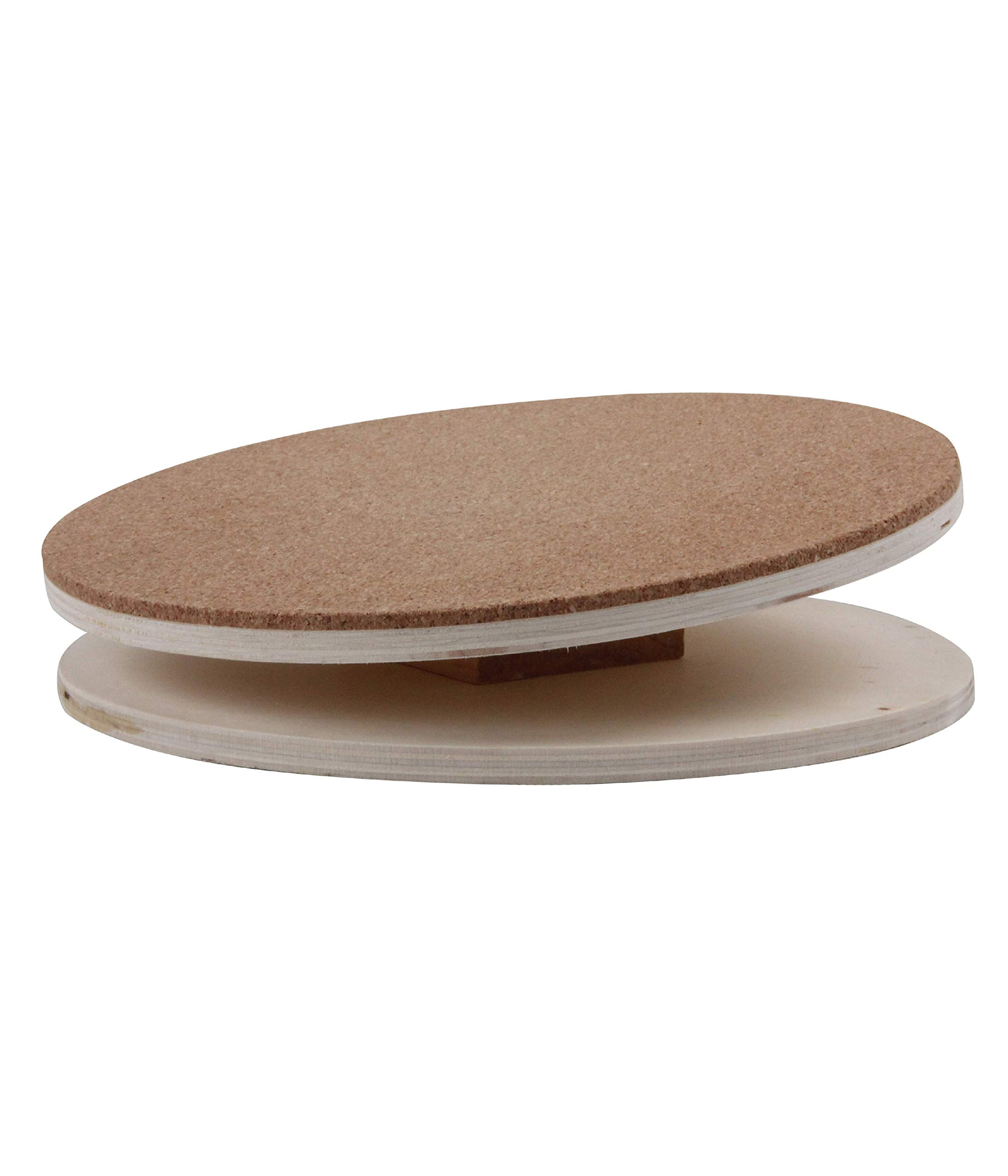 Dehner 4205324 Korky Play Tray for Small Animals Diameter 30 cm Natural Wood L